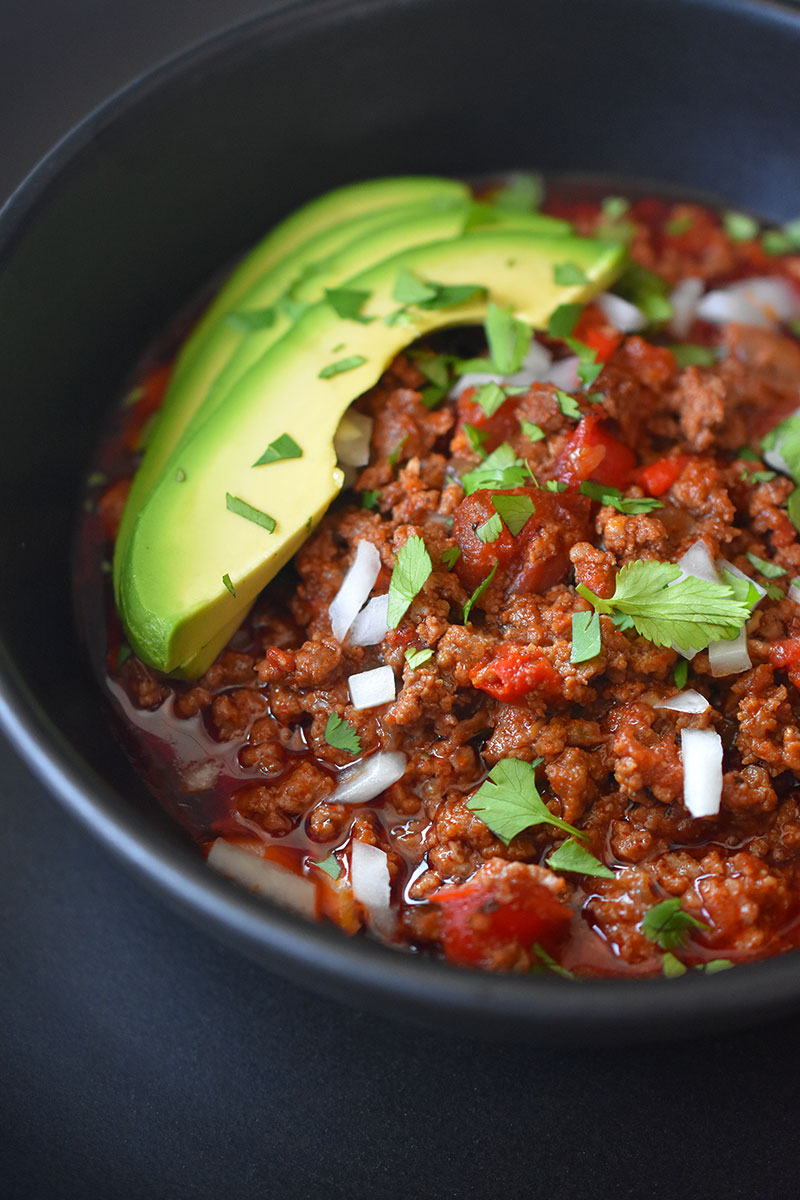 ground beef chili instant pot